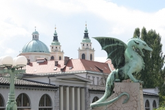 Dragon bridge, Ljubljana, Slovenia