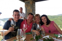 Winemakers and family, Slovenia